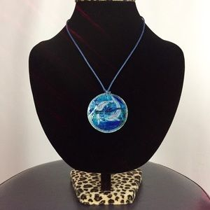 Jewelry - Dolphin Stained Glass Shell Oyster Necklace